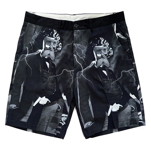 MADNESS PRINT SHORTS - BLACK