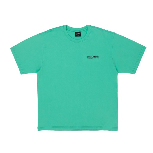 Embroidery Front Short Sleeve T-Shirt - MINT