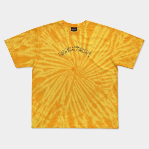 TIE-DYE BASIC LOGO TEE - YELLOW