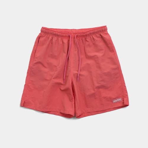 RUBBER PATCHED SHORTS - CORAL