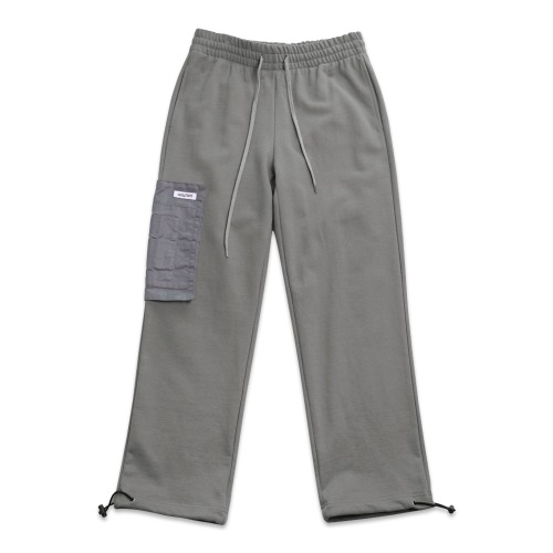 POCKET DETAIL SWEATPANTS - CHARCOAL