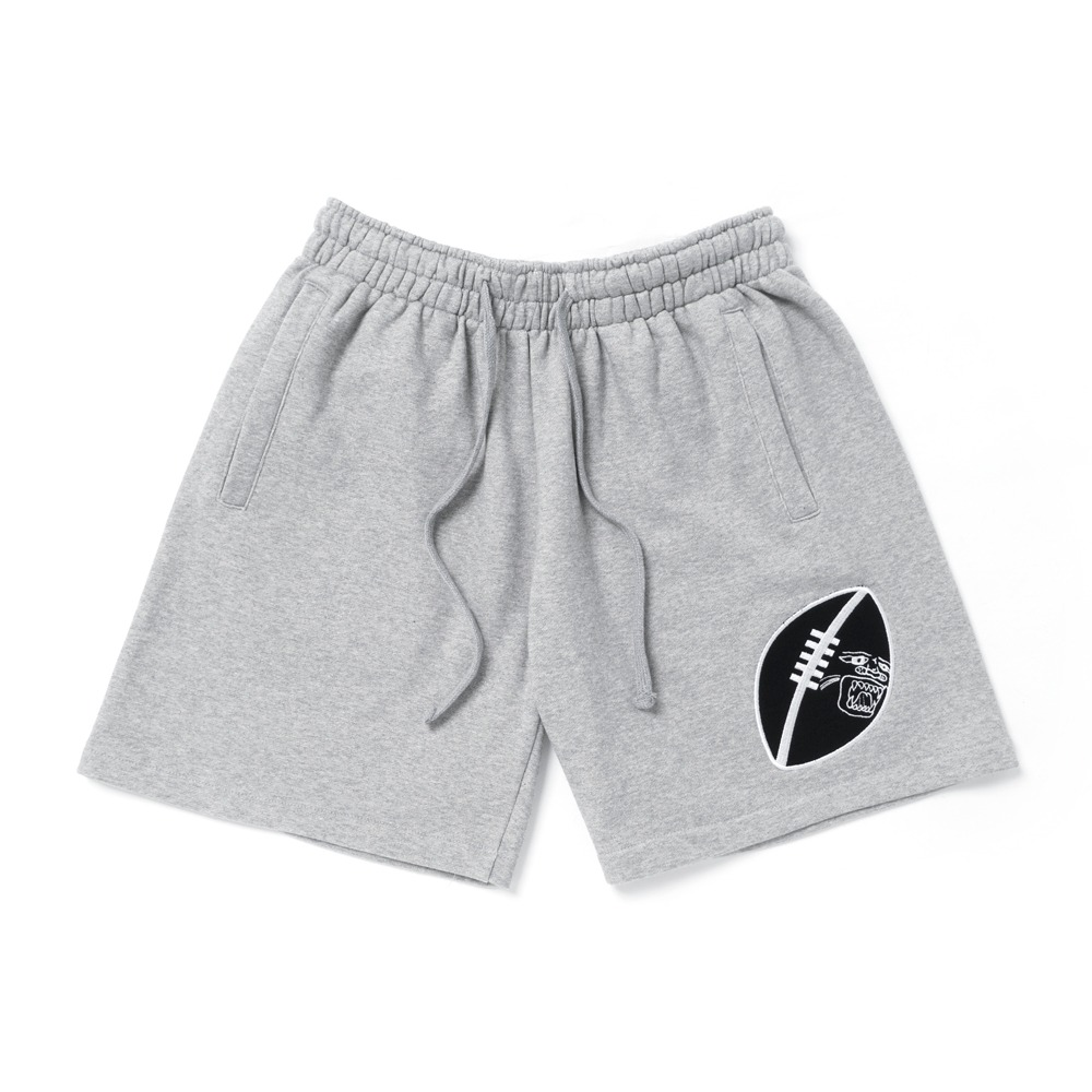 RUGBY 1/2 SWEAT SHORTS - GREY