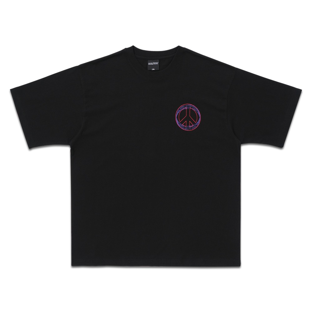 PEACE LOGO TEE - BLACK