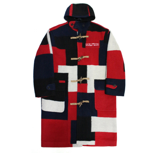 Patch Work Duffle Coat - Multi Color
