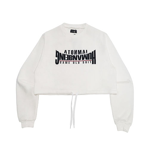 [18FW] ARCH LOGO CROP SWEAT SHIRT - WHITE